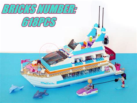 lego friends dolphin cruiser coloring pages bela friends girl dolphin cruiser 10172 vessel ship model