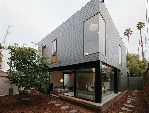 Modern Living Spaces Exterior Modern Residence Wrapped Zinc Cladding Home