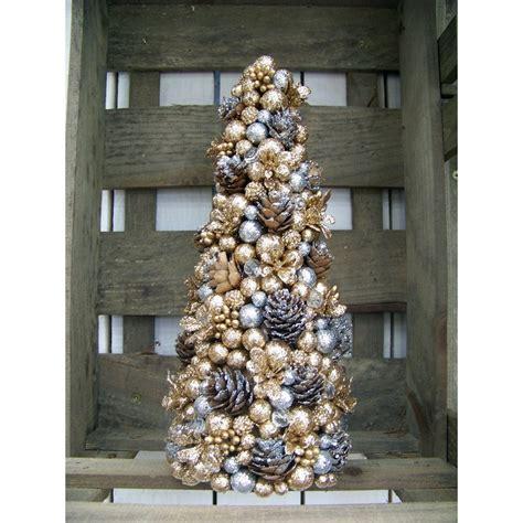 tisch weihnachtsbaum gold silber