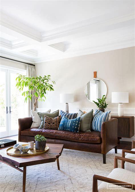copy cat chic room redo mid century boho living room