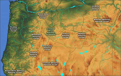 map of oregon national forests national forests and grassland in oregon oregon national