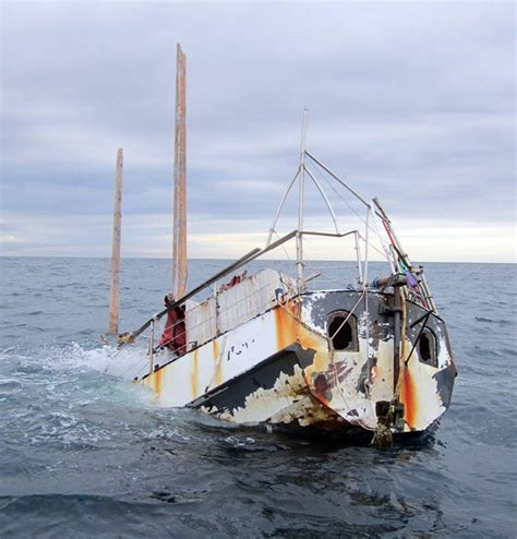 man of steel fishing boat captain ghost yacht sunk by irish naval service after crossing