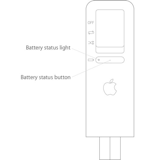 check the status light and battery charge on your ipod