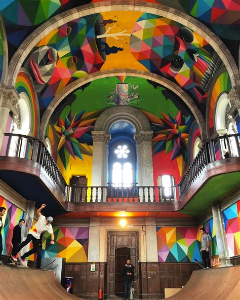 Kaos Cannabis 11 okuda san miguel paints colorful mural within converted