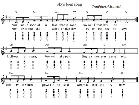 mingulay boat song lyrics the skye boat song tin whistle sheet music irish folk songs