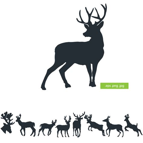 deer silhouette by silhouettes clipart on deviantart