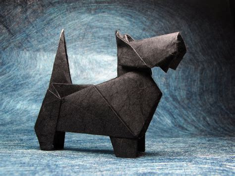Origami Scottie - 25 best ideas about origami animals on easy