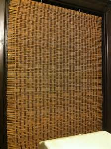curtains bamboo d 246 rte weber finished bamboo curtains hanging in my