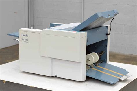 Used Paper Folding Machine For Sale - duplo df 915 paper folding machine boggs equipment