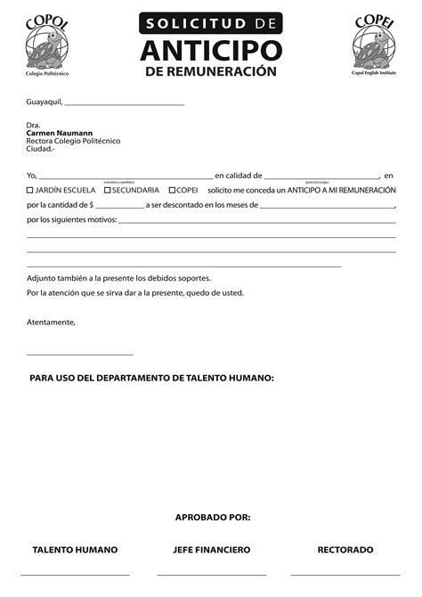 Formato Solicitud De Anticipo   formato solicitud de anticipo newhairstylesformen2014 com