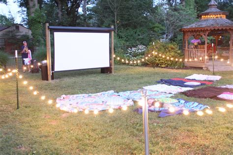 backyard movie party haleyv6 a 3rd and 5th birthday outdoor movie