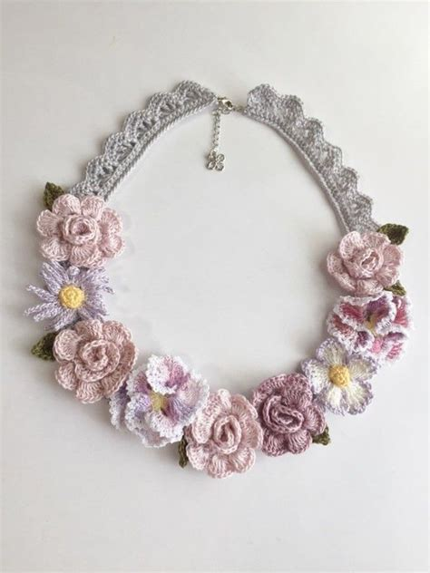 flower pattern jewellery 17 best images about crochet jewelry necklaces on