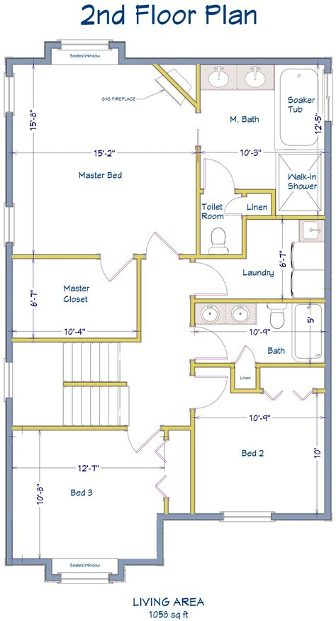 2nd floor plan 507 gardenia the floor plan