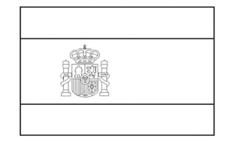 spanish flag free printable colouring pages