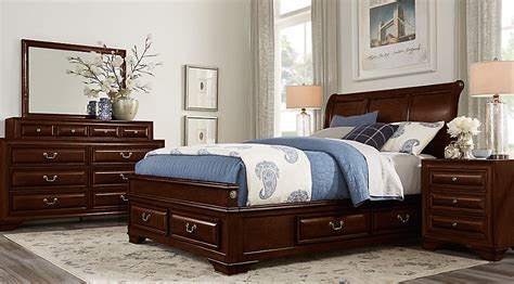 Room Store Bedroom Sets by Mill Valley Ii Cherry 5 Pc Sleigh Bedroom With