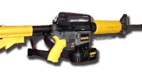 dewalt nail rifle shoots 200 yards no gun license needed