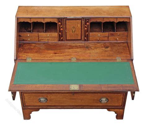 oak bureau desk george iii inlaid crossbanded oak bureau desk antiques atlas