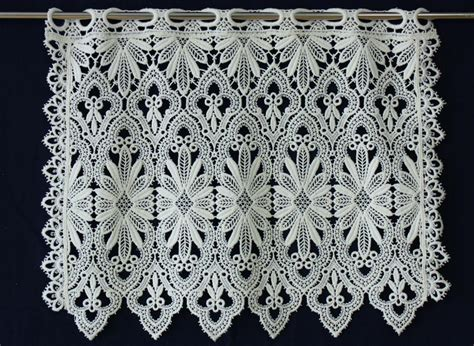 Macrame Lace Curtains Macrame Lace Cafe Curtain Valance Curtain