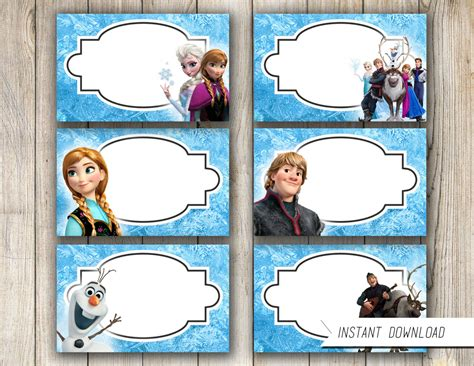 printable frozen food tents unavailable listing on etsy