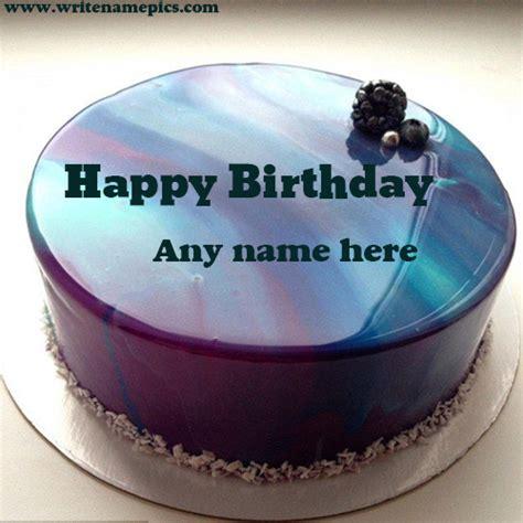 royal blue happy birthday cake   photo