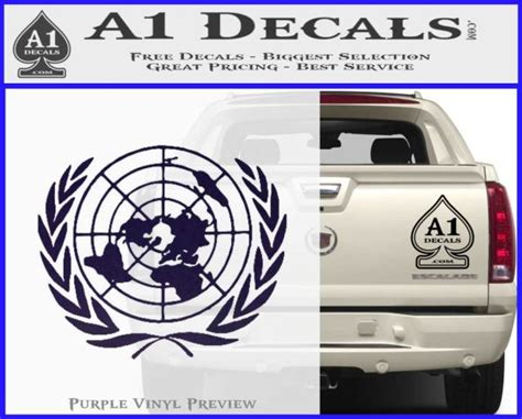 Sticker Guilty Crown 1 guilty crown united nations logo emblem d1 decal sticker