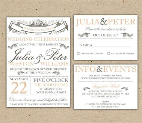 simple wedding invitations templates free simple wedding invitations templates free