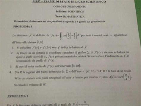 test ingresso inglese liceo scientifico esami maturit 224 2013 soluzioni seconda prova matematica