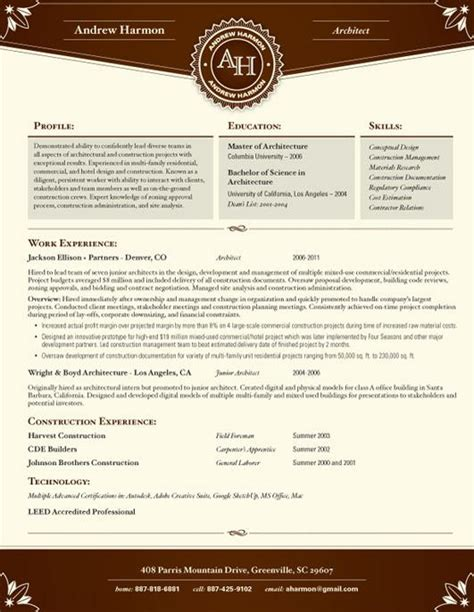Resume Template Banquet Brick Loft Resumes Loft Resume Template