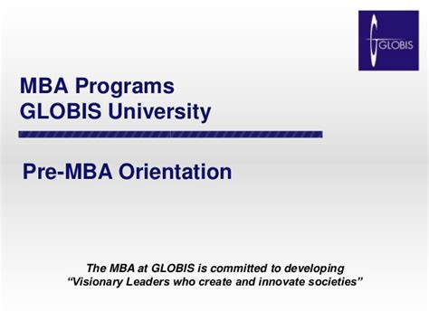 Pre Mba Courses by Pre Mba Orientation Handout October 2014