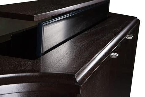 tv lift cabinets for flat screens flat screen tv riser carlton credenza tv lift cabinets