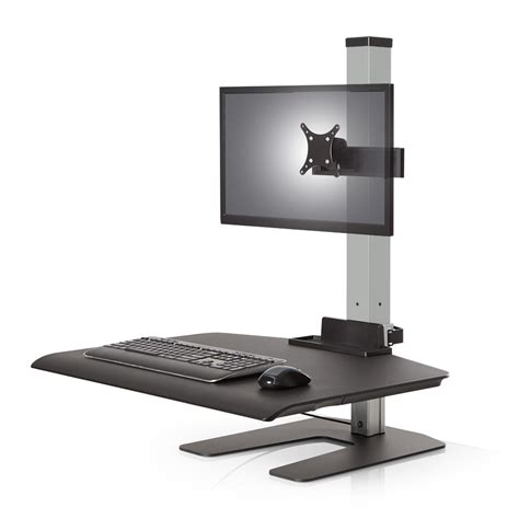 lcd desk stand sit stand desks by cubicles
