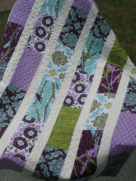 Lavender Patchwork Quilt - 100 best images about rectangle quilts on