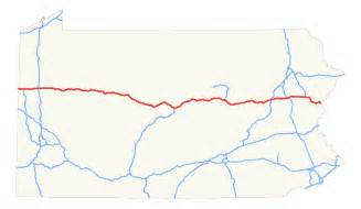 us map with interstate 80 interstate 80 in pennsylvania