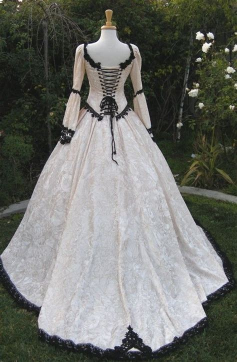 gothic renaissance fairy medieval wedding gown custom