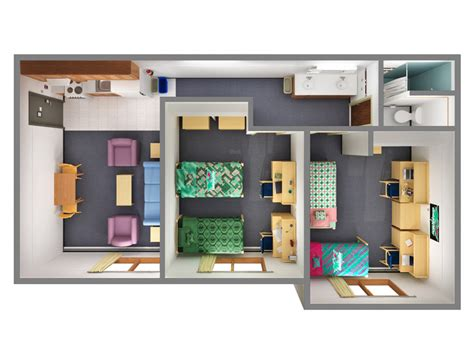 Efficiency Apartment Floor Plans by Shared Apartments Office Of Residence Life University