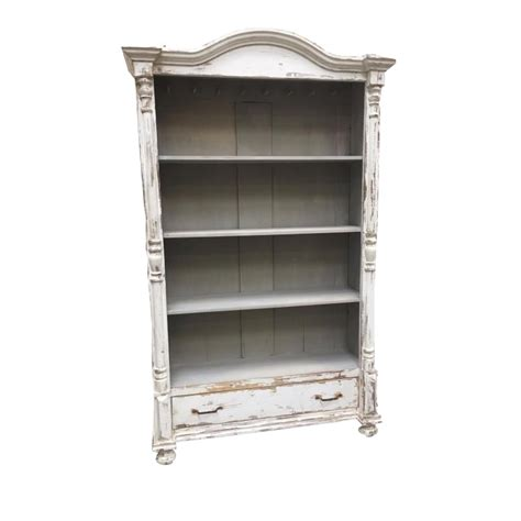 white bookcase with drawer european antique white painted bookcase with drawer chairish