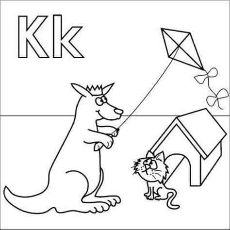 K Kangaroo Coloring Page by Letter K Coloring Page Kangaroo King Kite Kitten