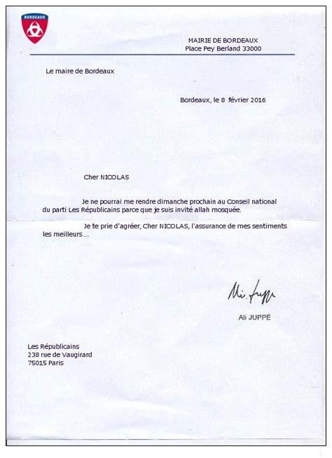 Lettre D Excuse Conseil De Discipline Absence De Jupp 233 La Lettre D Excuse