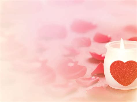 free romantic candle power backgrounds for powerpoint