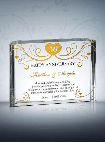 Wedding Anniversary Awards by 50th Golden Wedding Anniversary Gifts Diy Awards