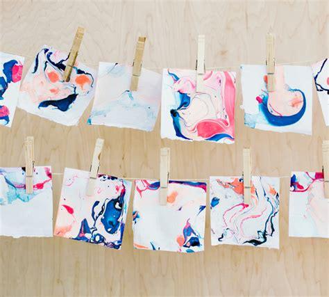 Make Marbled Paper - marbled paper garland a subtle revelry