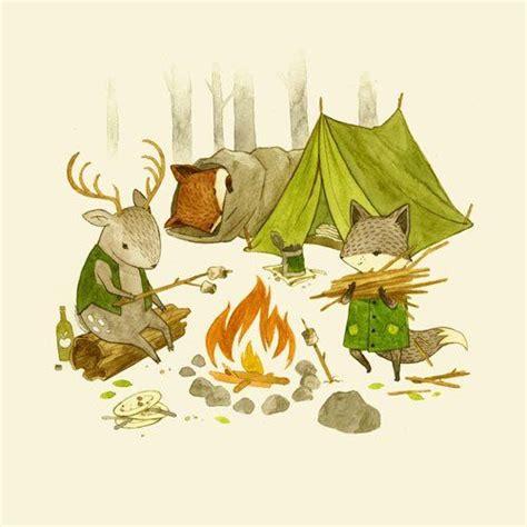 teagan white illustration camping   woods children