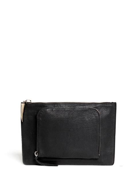 Document Bag Polo Team 8262 Black giuseppe zanotti borse leather document pouch in black for lyst