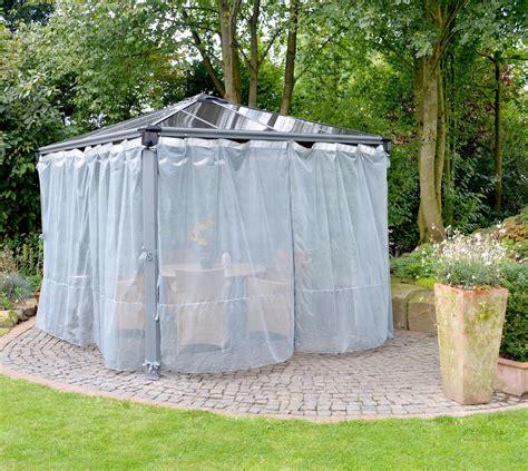 pavillon mit moskitonetz palram aluminium gazebo pavillon palermo und