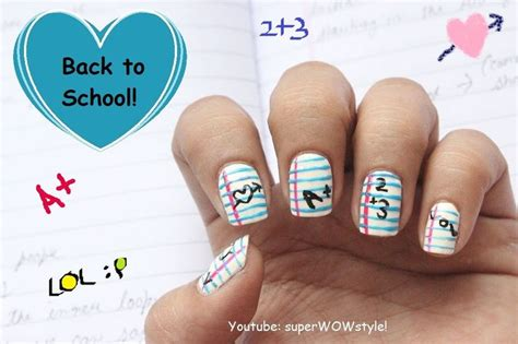 tutorial nail art sendiri back to school nail art design tutorial video tutorials