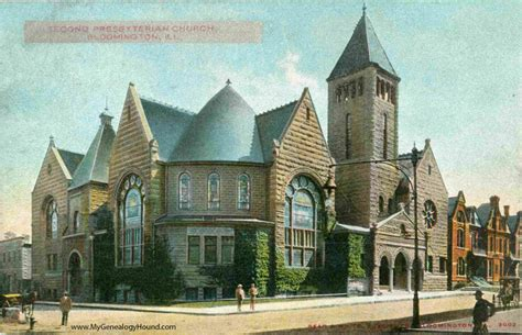bloomington illinois second presbyterian church vintage