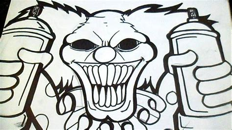 imagenes para dibujar a lapiz de payasos dibujo payaso con spray graffiti z 228 xx youtube