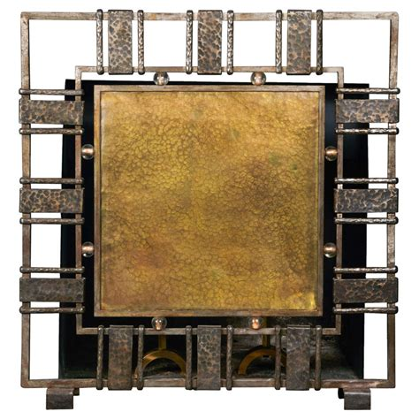 Unique Oversized Fire Screen By Werner Hendricks At 1stdibs Oversized Fireplace Screens