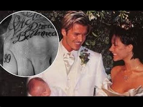 david beckham tattoo translation david beckham posts sweet tribute to wife victoria married