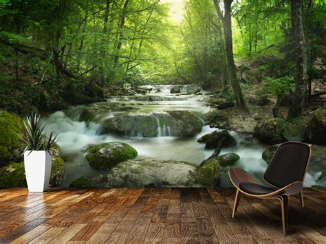 waterfall wall mural enchanting forest waterfall wall mural enchanting forest waterfall wallpaper